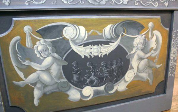 Роспись дубовых панелей