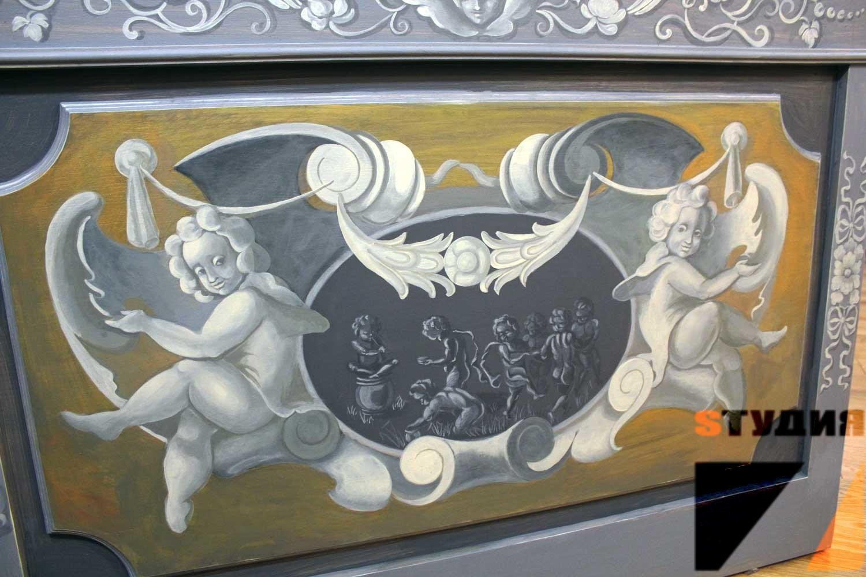 Роспись стен Роспись дубовых панелей