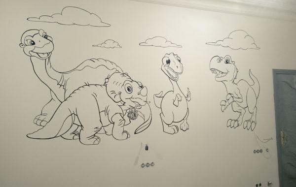 Динозаврики в детской комнате