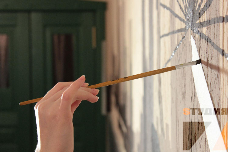 Роспись стен Брендирование паба Beerhouse г. Королев