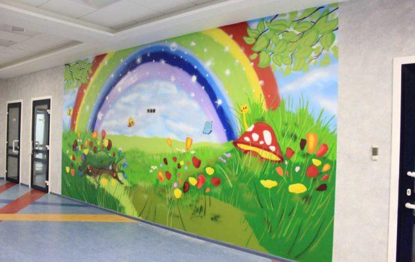 Роспись детской поликлиники Эксимер в г. Нижний Новгород