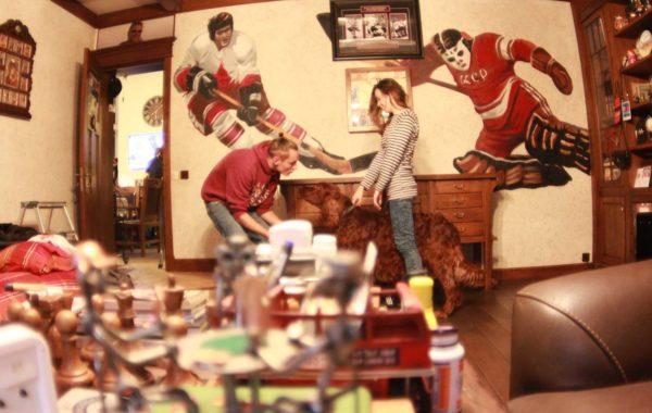 Изображения хоккеистов в кабинете