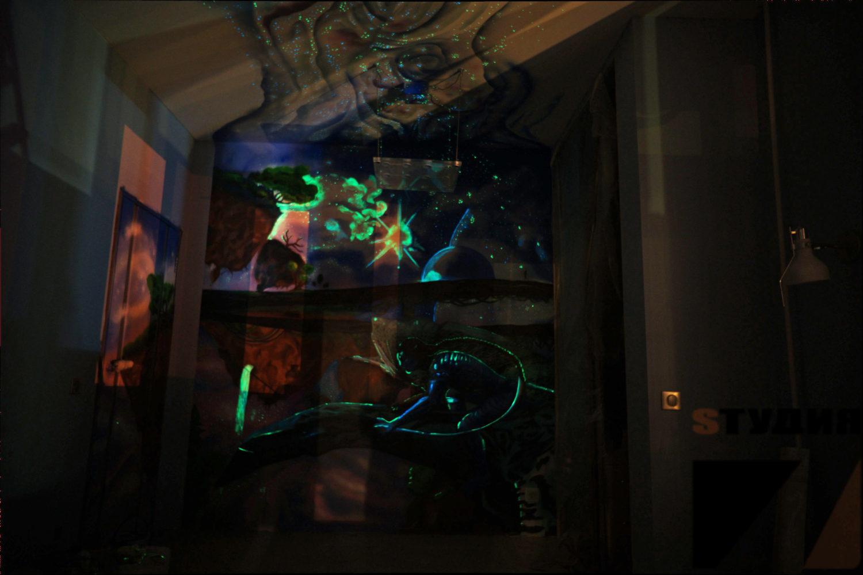 Роспись стен Детская в стиле фильма «Аватар»