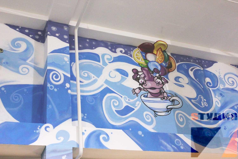 Роспись стен Парк развлечений «Чайлэнд» в ТРК MARi