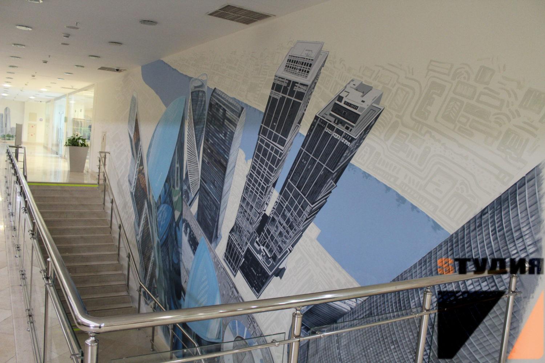 Роспись стен Москва-Сити в Гостинице