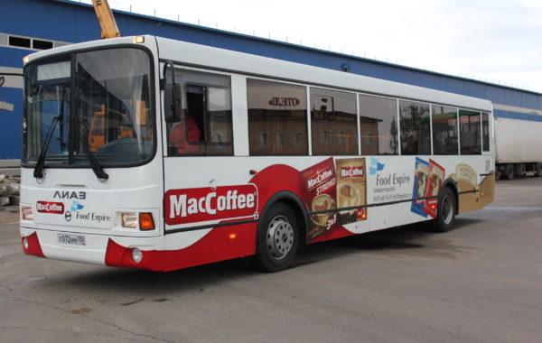 Оформление автобуса MacCoffee