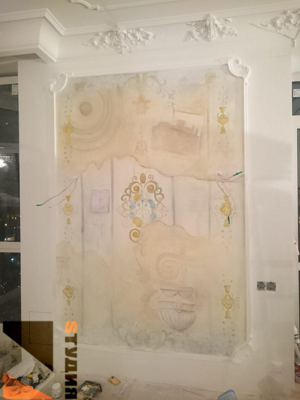 Роспись стен Декоративные ниши в средиземноморском стиле