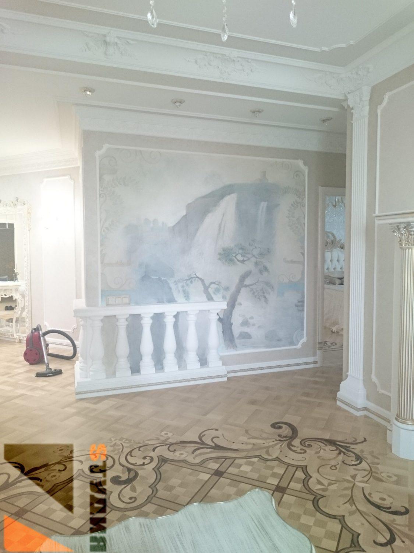 Роспись стен Черно-белая