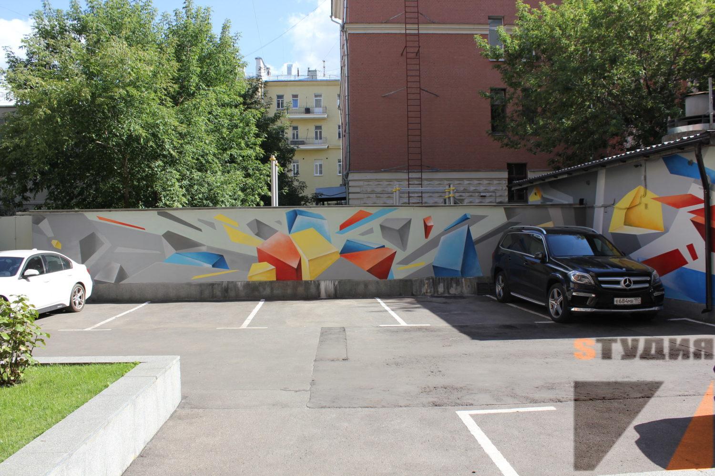 Роспись стен Бизнес центр «Композиторская 17»