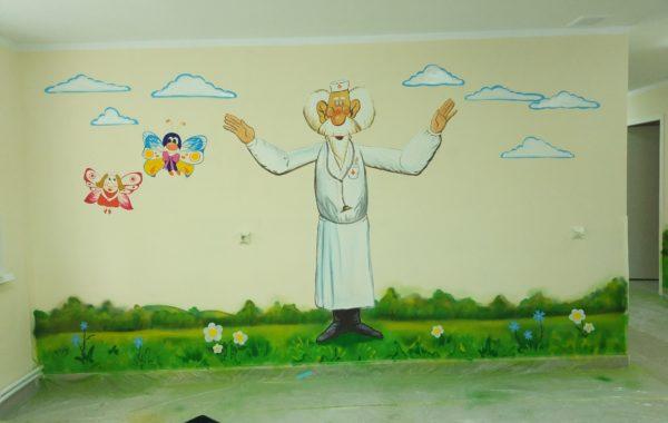 Роспись в мед. пункте лагеря