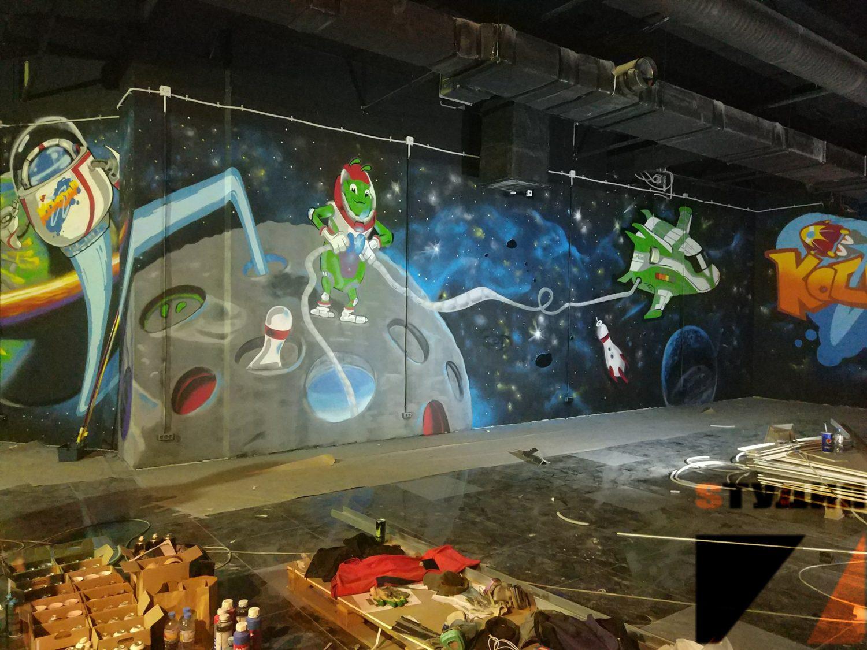 Роспись стен Космостар
