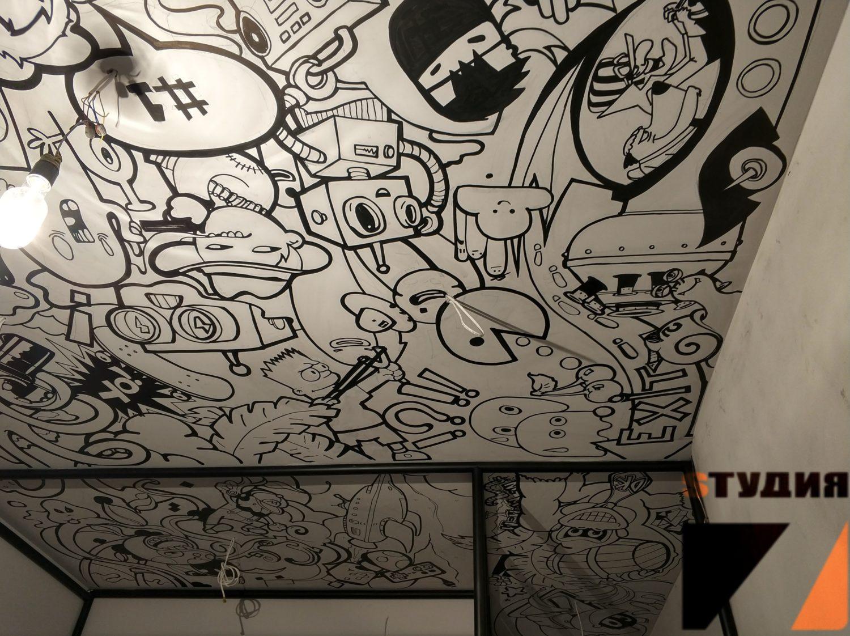 Роспись стен Участие в программе «Квартирный вопрос» на НТВ