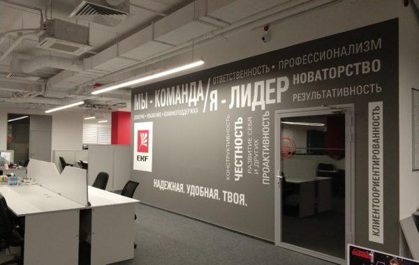 Нанесение логотипа и роспись офиса