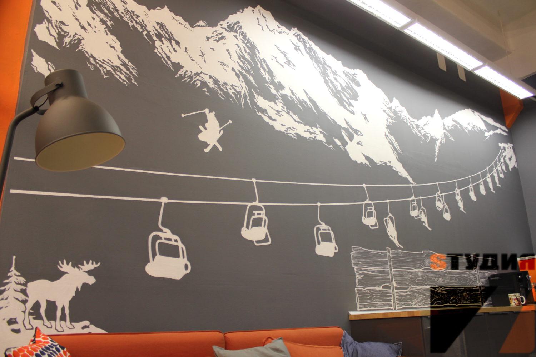 Роспись стен Офис компании Sphinx