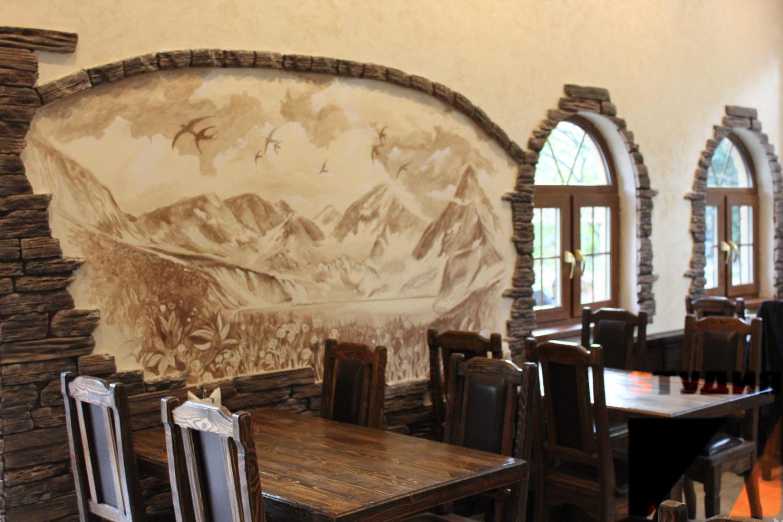 Роспись стен Ресторан «Ласточка» на ВДНХ