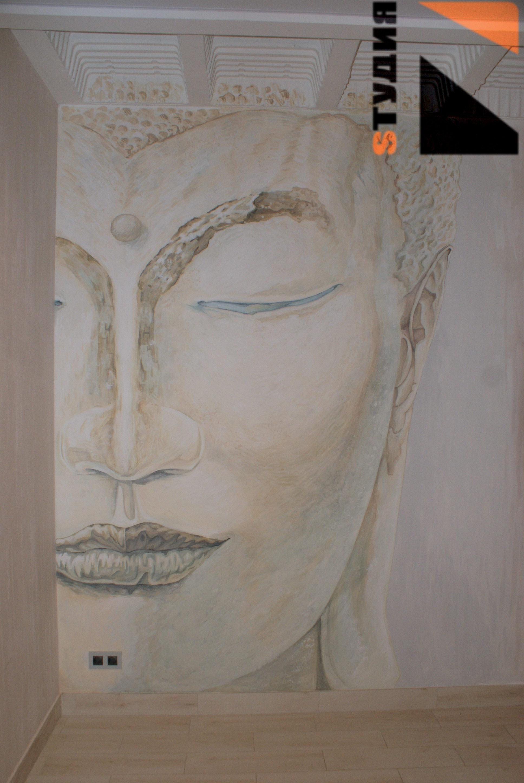 Роспись стен Комнаты частного дома в буддийском стиле