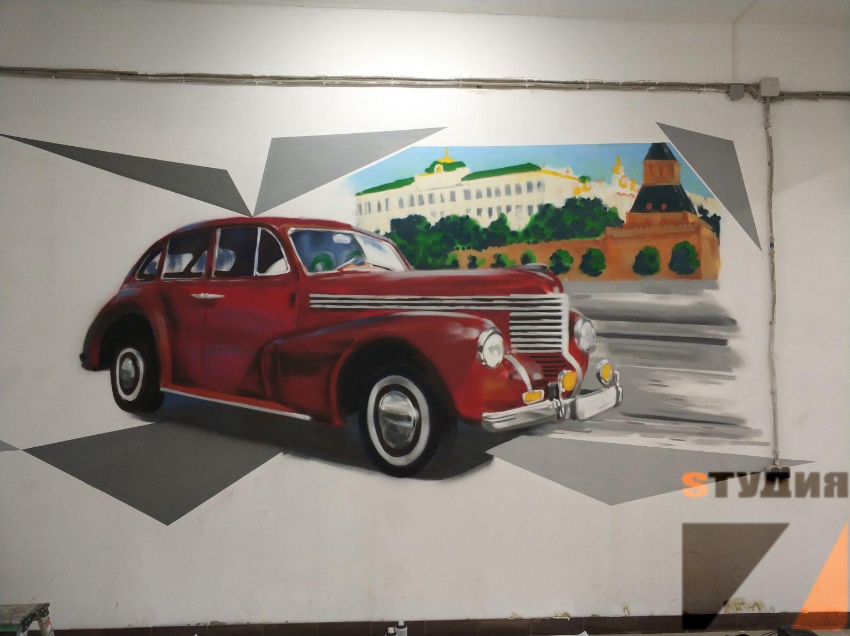 Роспись стен Автосервис