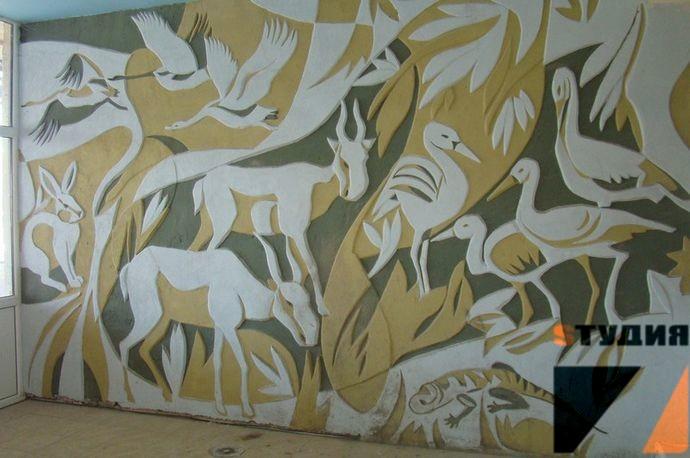 Роспись стен Техника росписи стен в интерьере