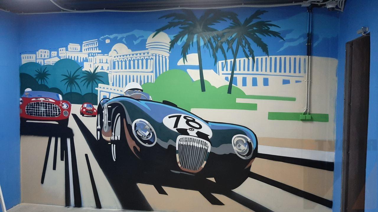 Роспись стен Студия автотюнинга «Syrus Rally-Technic»