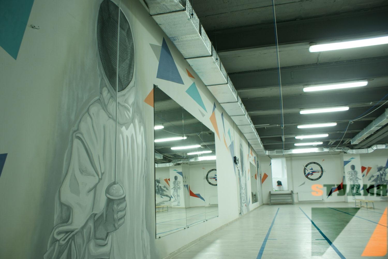 Роспись стен Фехтовальный зал Fencing League