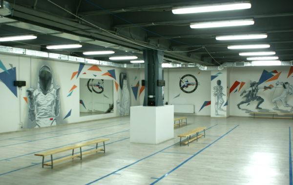 Роспись спортивного зала