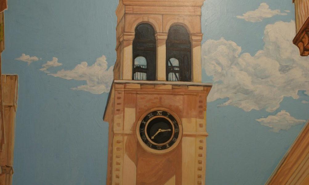 Роспись на стене квартиры
