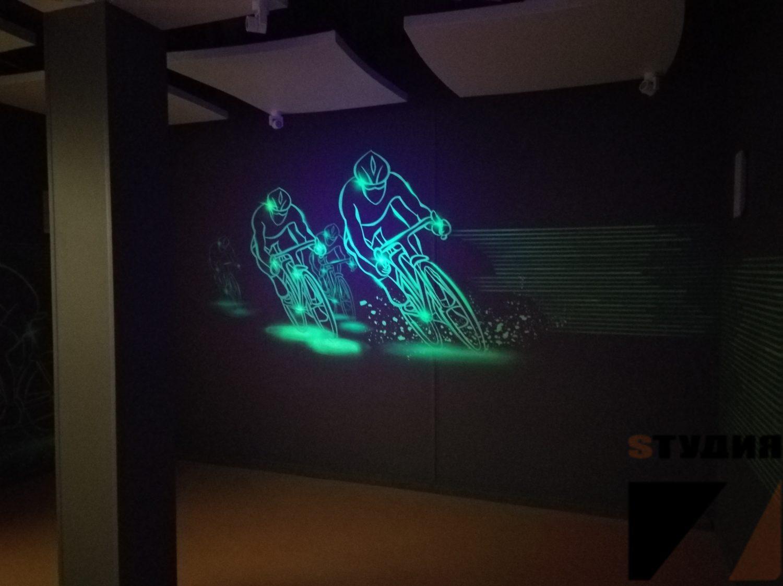 Роспись стен Светящаяся роспись