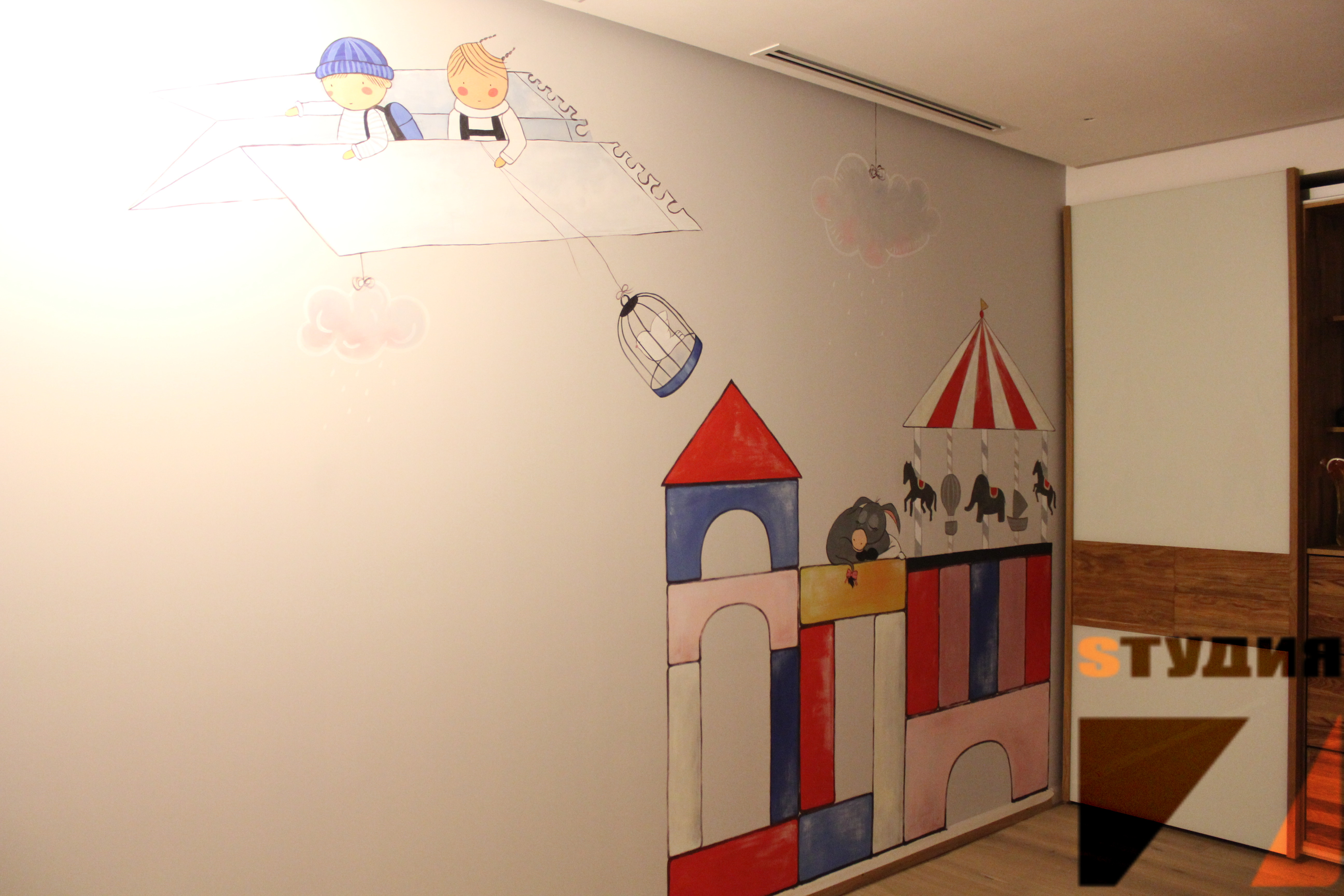 Роспись стен Детская Винтаж