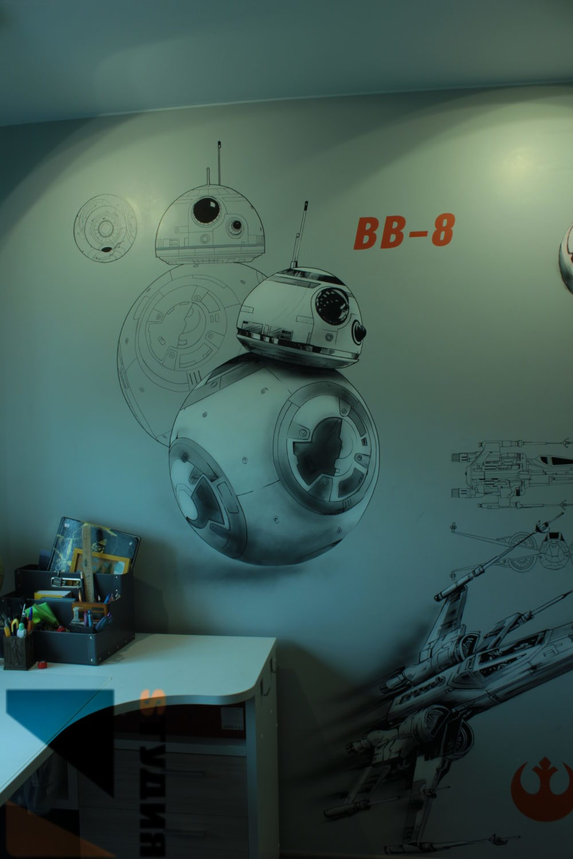 Роспись в детской комнате