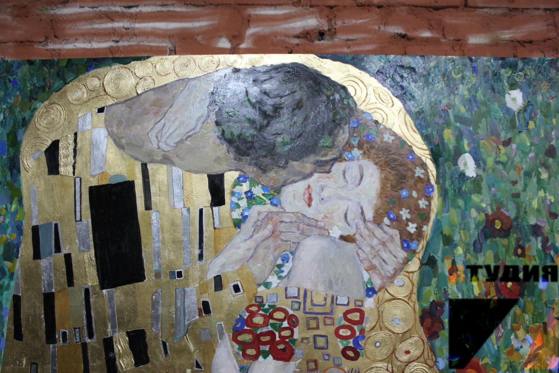 Роспись стен Деревянная панель Климт
