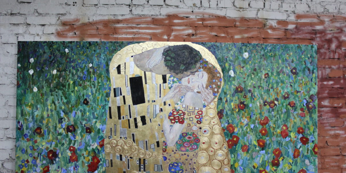 Деревянная панель Климт