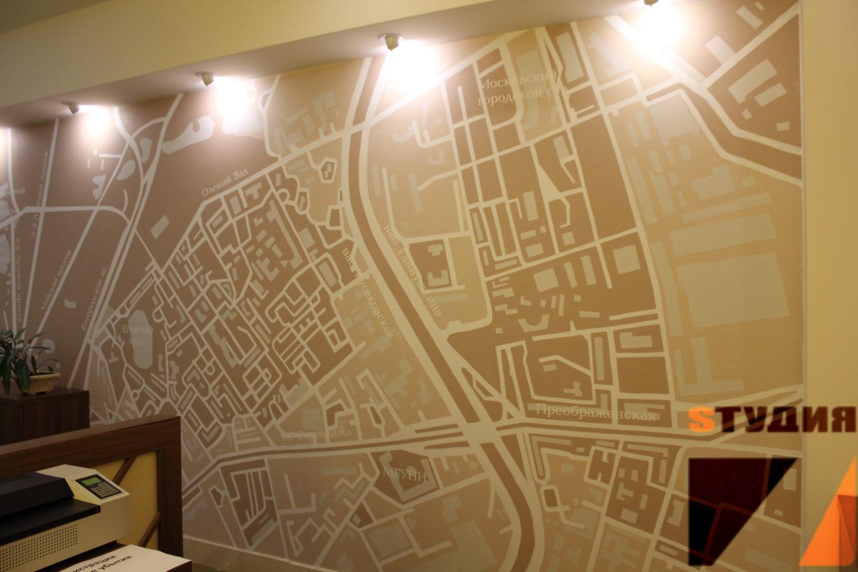 Роспись стен Бизнес-центр Холидей Инн Сокольники