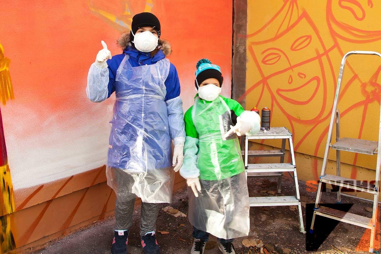 Роспись стен Граффити мастер класс для школьников
