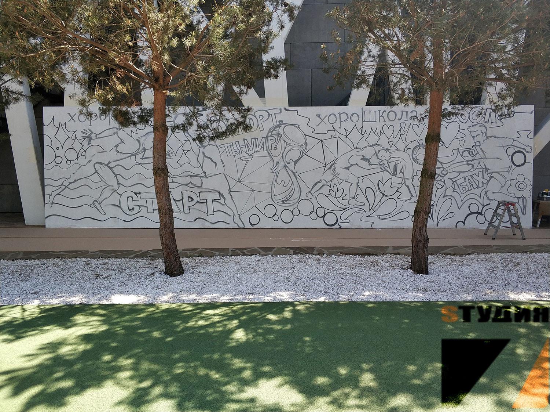 Роспись стен Мастер класс по граффити для школы