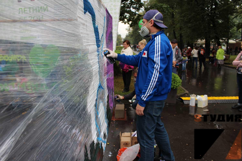 Роспись стен Мастер-класс ко дню города Москвы