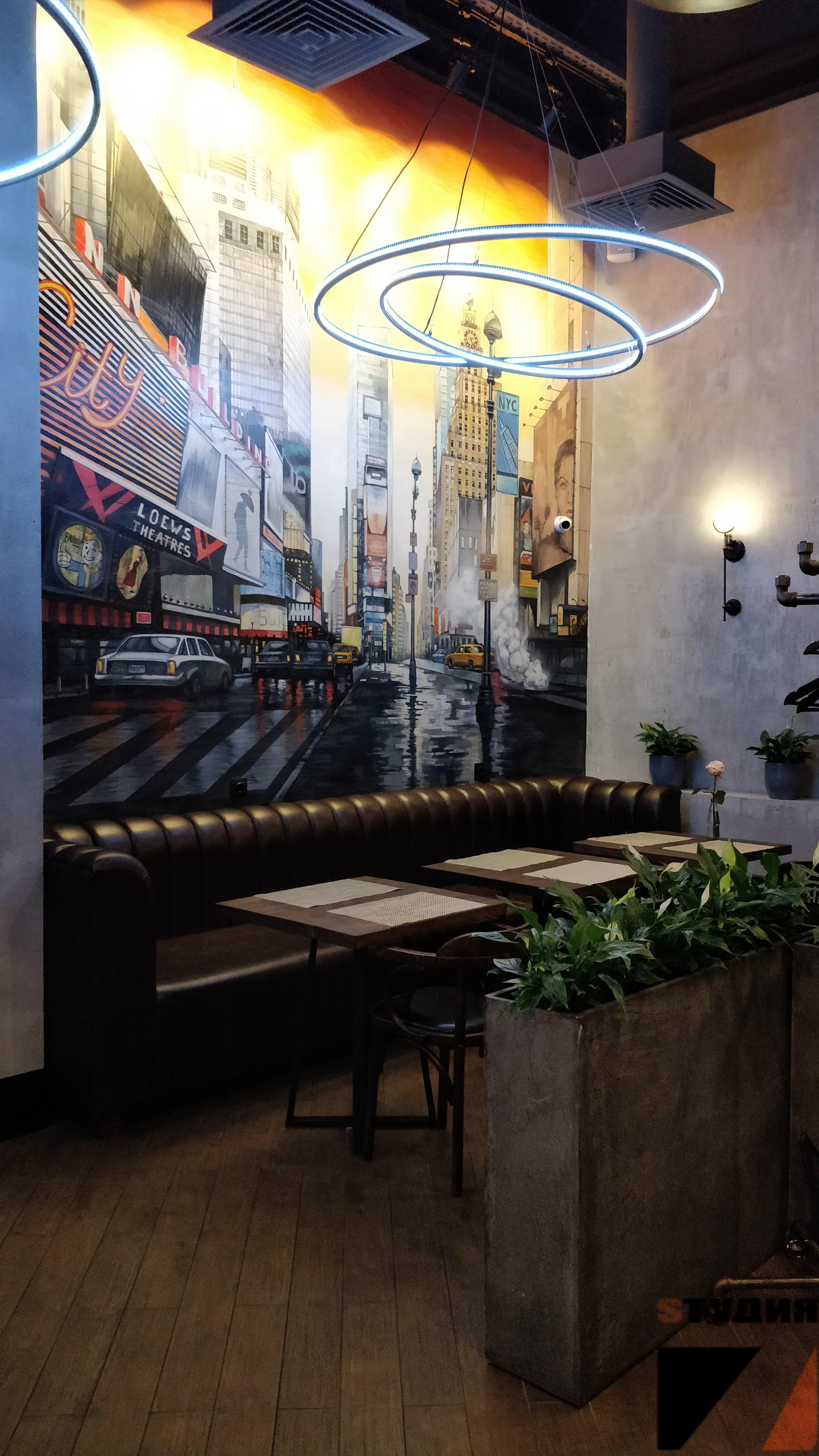 Роспись стен Роспись в кафе «Чебуречная»