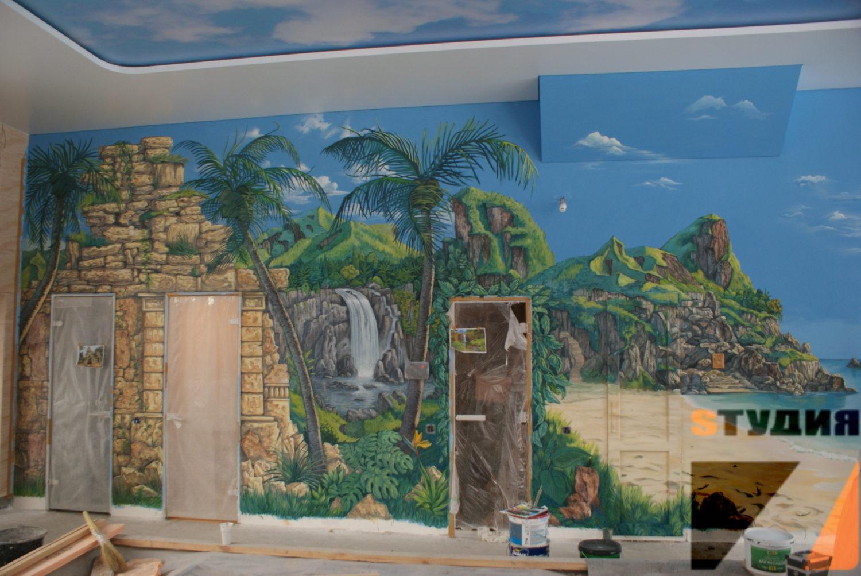 Роспись стен Роспись в ванной