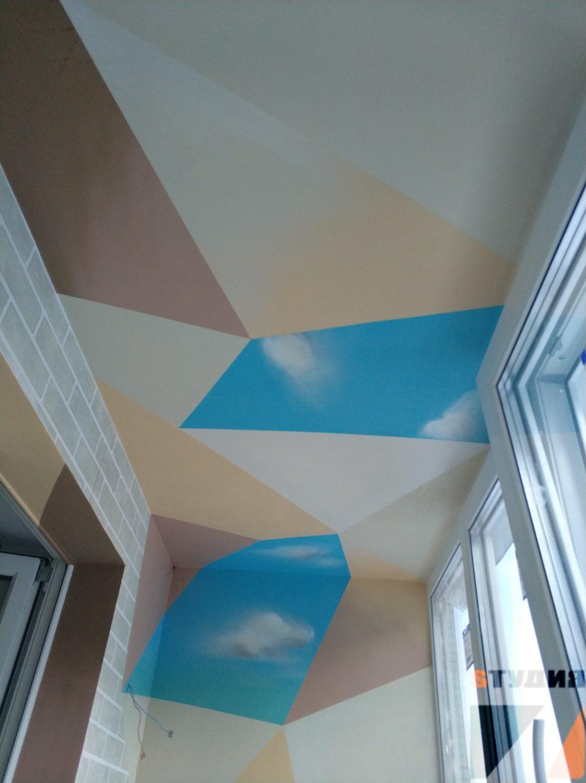 Роспись стен Роспись балкона в квартире
