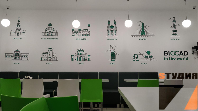 Роспись стен Стены в подъезде