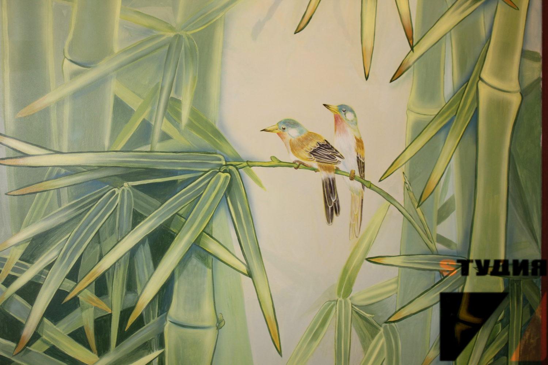 Роспись стен Бамбуковые рощи