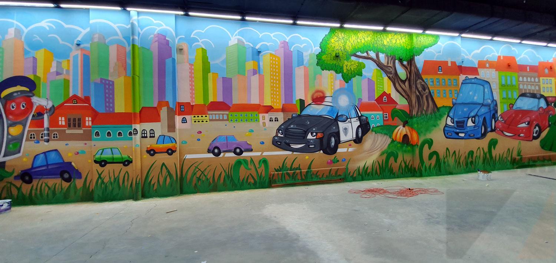Роспись стен Оформление парка «Чайлэнд» в г. Саратов