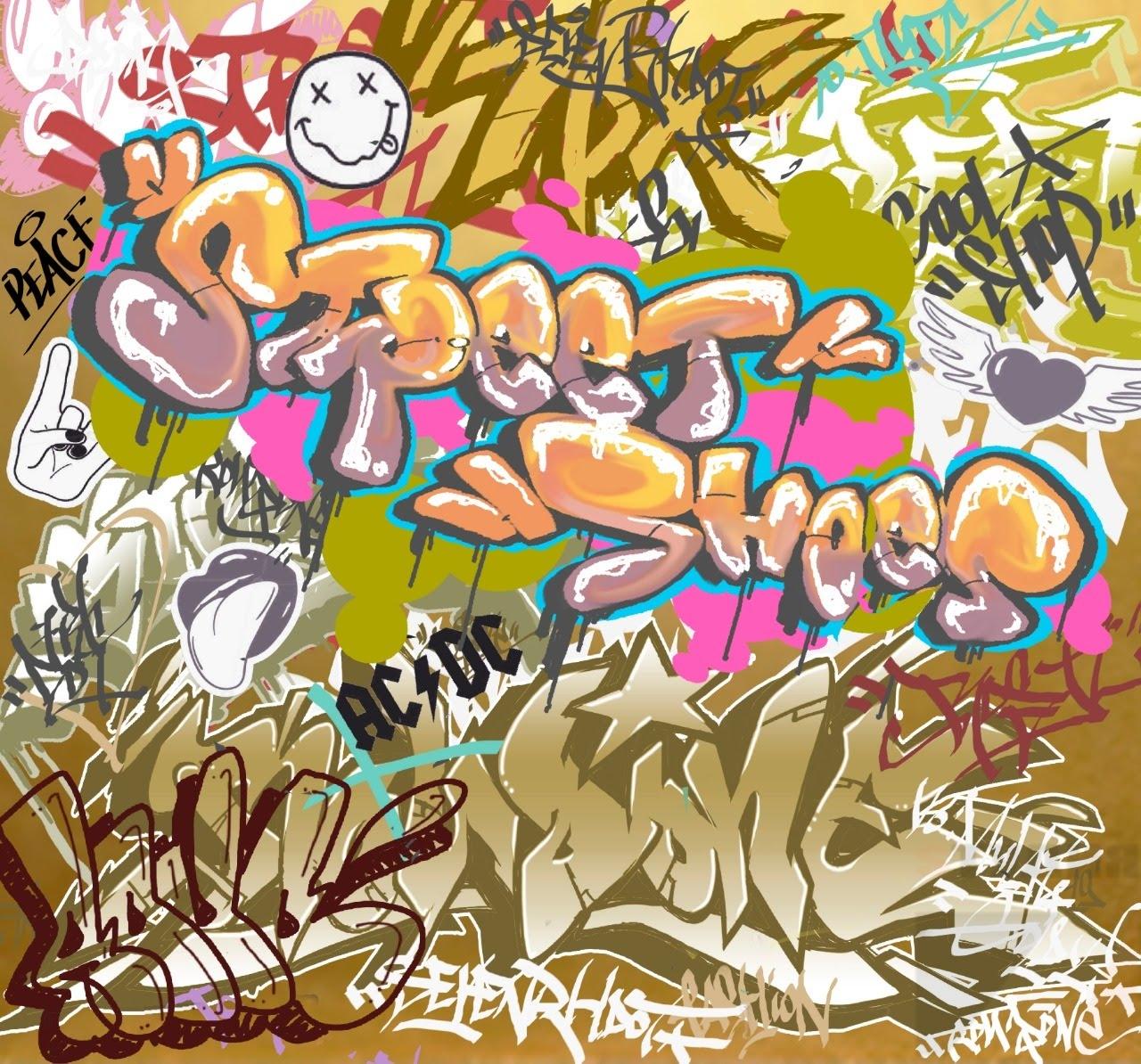 Роспись стен Граффити оформление магазина