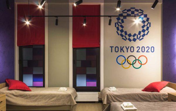 Роспись в отеле для спортсменов