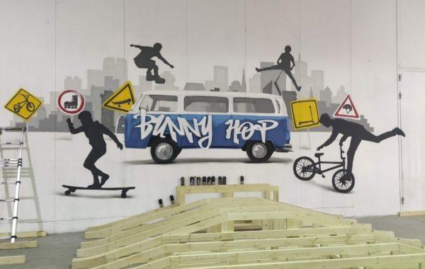 Граффити в скейт-парке