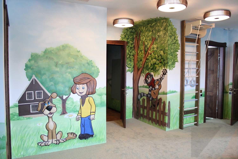 Роспись стен Оформление детской игровой зоны