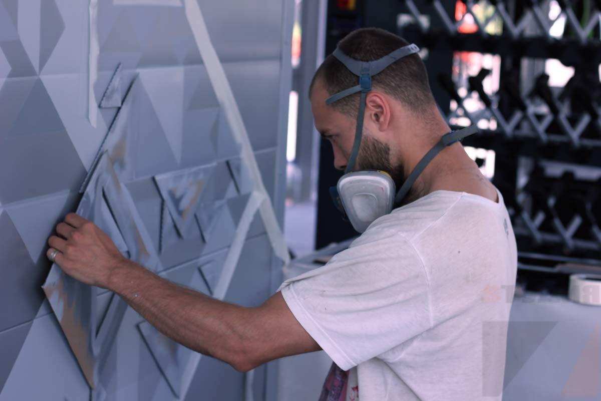 Роспись стен Велопрокат в Мещерском парке