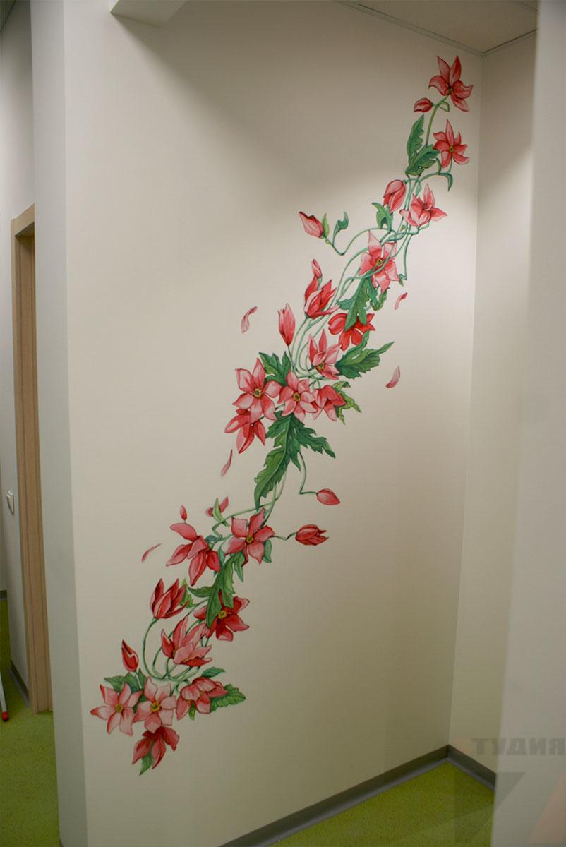 Роспись стен Оформление в туалетной комнате