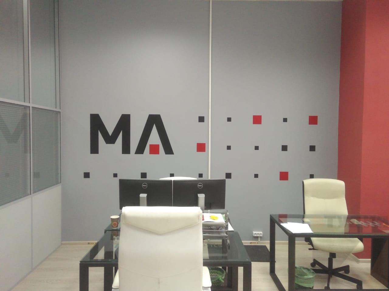 Роспись стен Брендирование стен в офисе