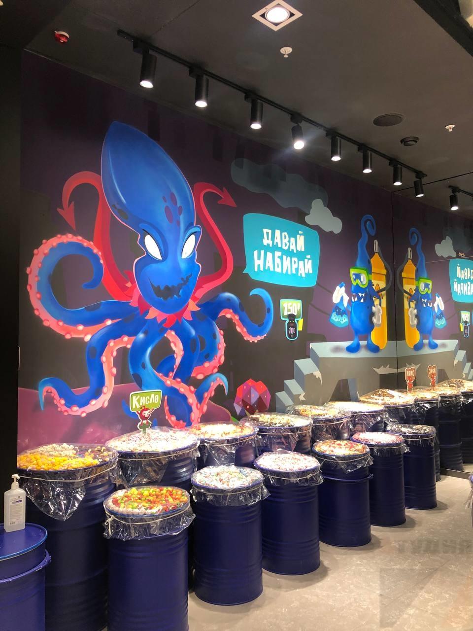 Роспись стен Граффити оформление магазинов