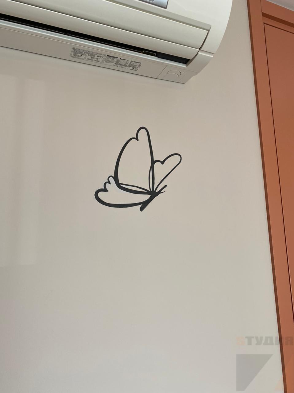 Роспись стен Трафаретное оформление в детской